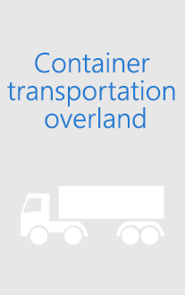Container transportation overland
